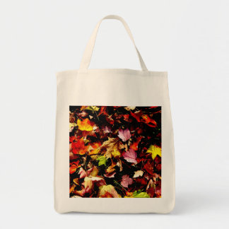 Autumn Leaves Organic canvas tote bag