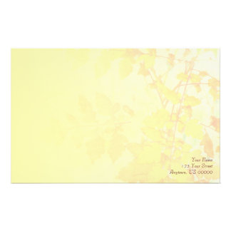 Autumn Leaves Pale Yellow Stationery