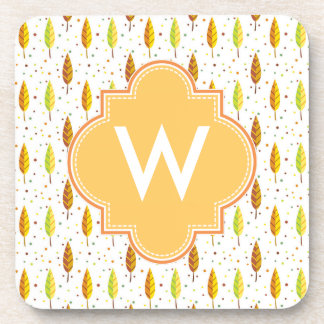 Autumn leaves Pattern Beverage Coaster