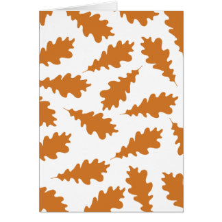 Autumn Leaves Pattern. Card