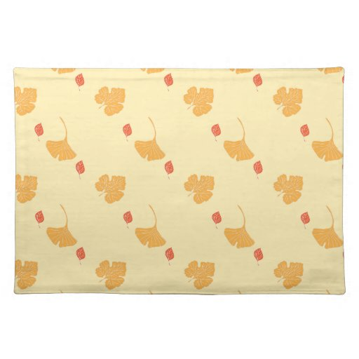 Autumn leaves pattern cloth place mat