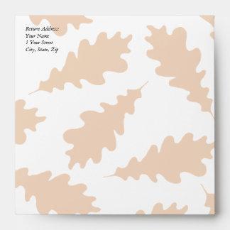 Autumn Leaves Pattern. Envelope