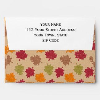 Autumn Leaves Pattern Envelopes