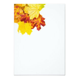 Autumn leaves pattern personalized invite