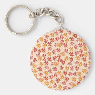 Autumn Leaves Pattern Keychain