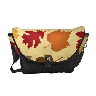 Autumn Leaves Pattern Messenger Bag
