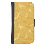 Autumn leaves pattern phone wallets
