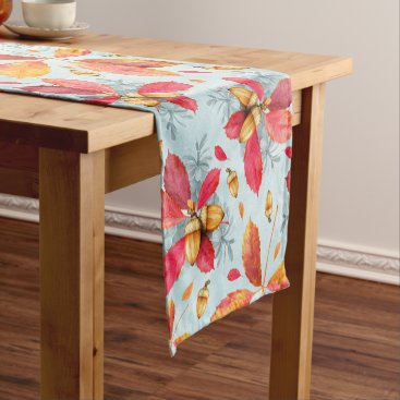 Professional Business Autumn leaves pattern short table runner