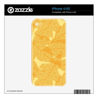 Autumn leaves pattern skin for iPhone 4S