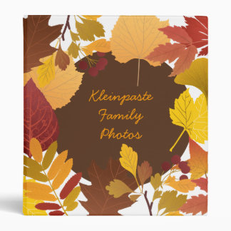 Autumn Leaves Personalized Photo Binder