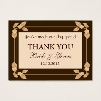 Autumn Leaves Personalized Wedding Favor Gift Tags