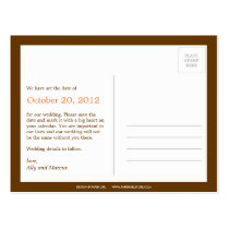 Autumn Leaves Photo Save The Date Postcard Post Card