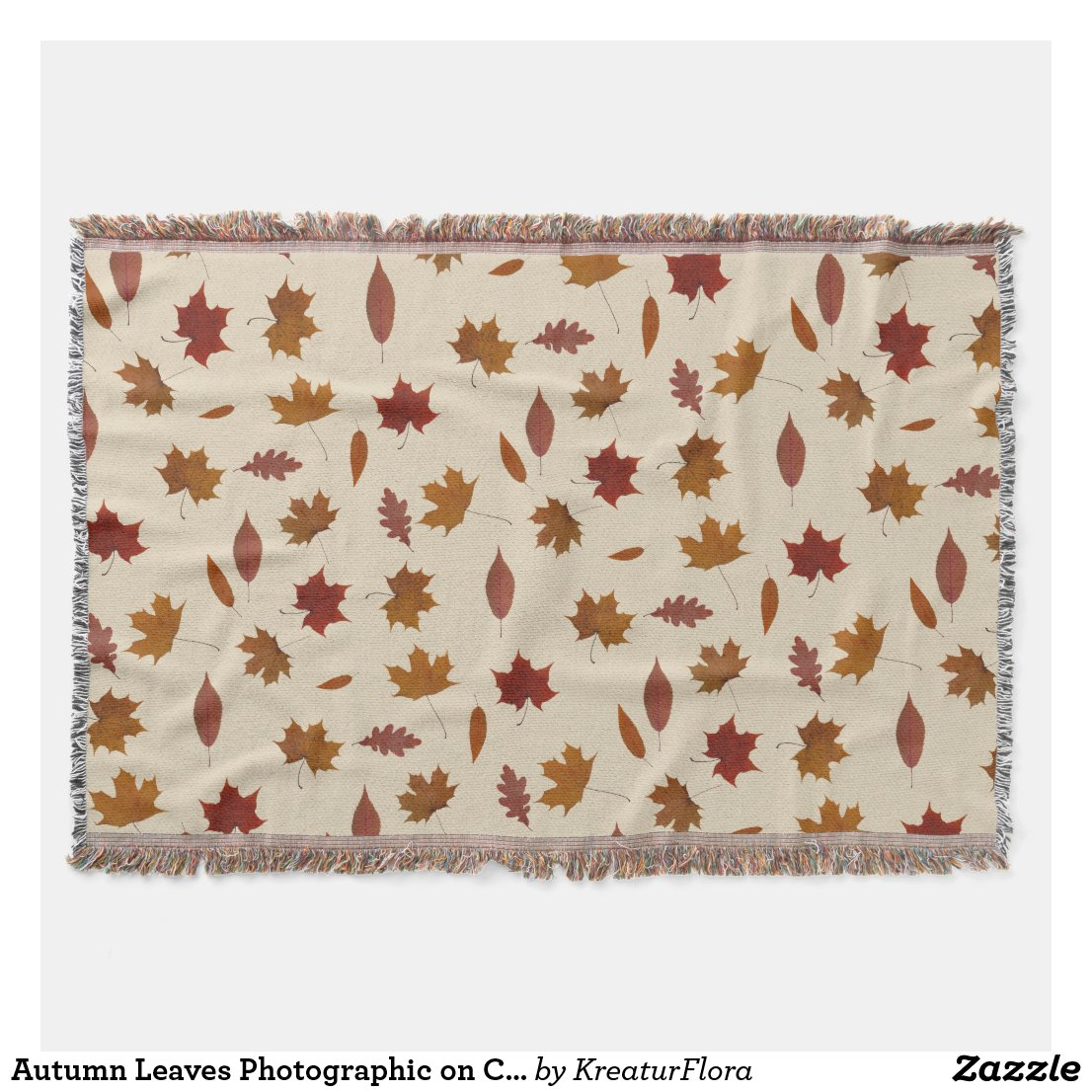 Autumn Leaves Photographic on Cream Custom Color