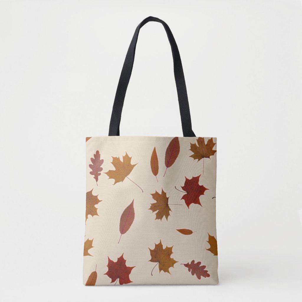 Autumn Leaves Photographic on Cream Custom Color