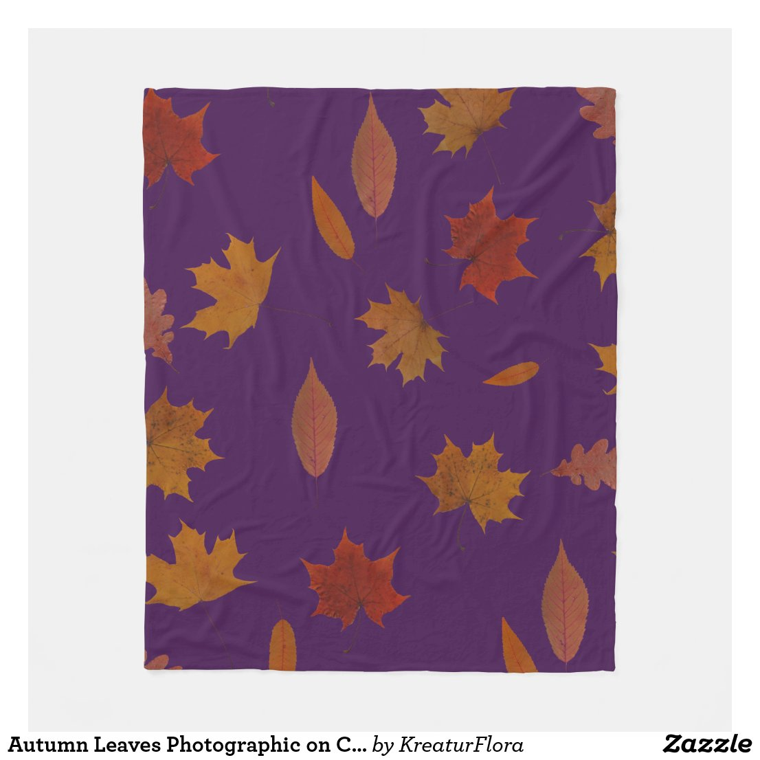 Autumn Leaves Photographic on Custom Color
