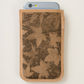 Autumn Leaves Photography Leather iPhone 6 pouch