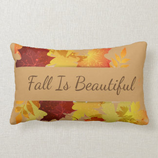 Autumn Leaves Pillow-Fall Is Beautiful Lumbar Pillow