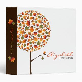 Autumn Leaves Pop Tree Custom Binder