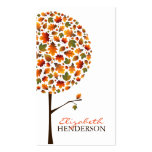 Autumn Leaves Pop Tree Nature Business Card Business Card Template