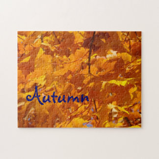 Autumn Leaves puzzle Golden Fall Tree Leaves