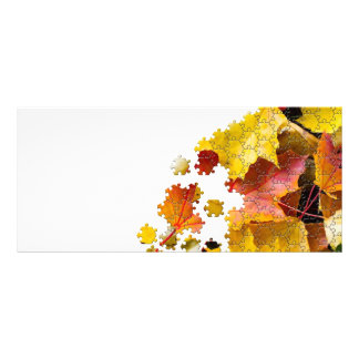 Autumn leaves puzzle-look image customized rack card