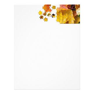 Autumn leaves puzzle-look image letterhead