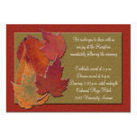 Autumn Leaves Reception Enclosure Card Business Card Template
