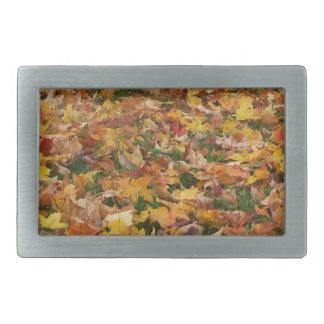 Autumn Leaves Rectangular Belt Buckle
