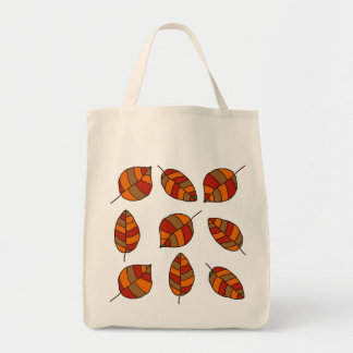 Autumn Leaves Red Leaf Pattern Tote Bag
