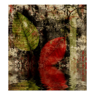 Autumn Leaves Reflected Print