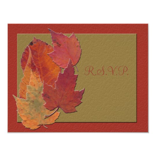 Autumn Leaves Response Card