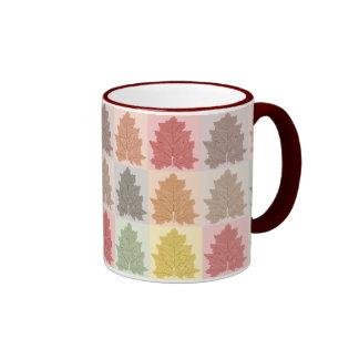 Autumn Leaves Ringer Coffee Mug
