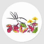 Autumn leaves round stickers
