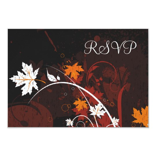 Autumn Leaves RSVP Card