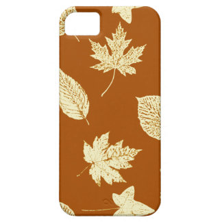 Autumn leaves - rust brown and cream iPhone SE/5/5s case