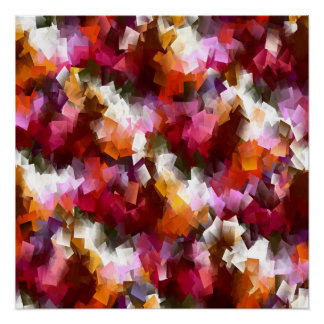 Autumn leaves scattered... poster