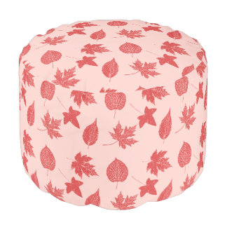 Coral Pink Shade Poufs Pillows Amp Ottomans
