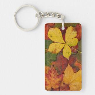 Autumn Leaves Single-Sided Rectangular Acrylic Keychain