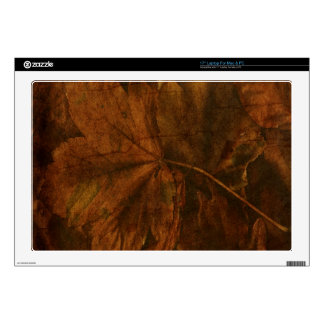 """Autumn Leaves Decal For 17"""" Laptop"""