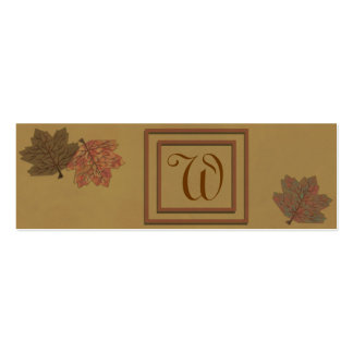 Autumn Leaves Skinny Profile Card Double-Sided Mini Business Cards (Pack Of 20)