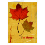 Autumn Leaves Sorry Cards