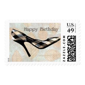 Autumn Leaves Stilettos Birthday Stamp