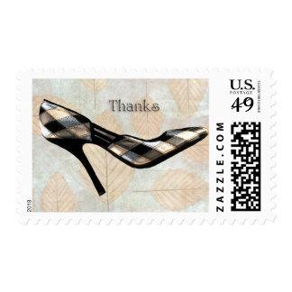 Autumn Leaves Stilettos Thanks Stamp