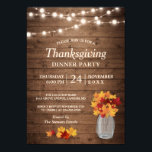 """Autumn Leaves String Lights Thanksgiving Dinner Invitation<br><div class=""""desc"""">Celebrate Thanksgiving and the fall season with this &quot;Autumn Leaves String Lights Thanksgiving Dinner Invitation&quot; template. It&#39;s easy to customize to be uniquely yours and send to your guests in style! (1) For further customization, please click the &quot;customize further&quot; link and use our design tool to modify this template. (2)...</div>"""