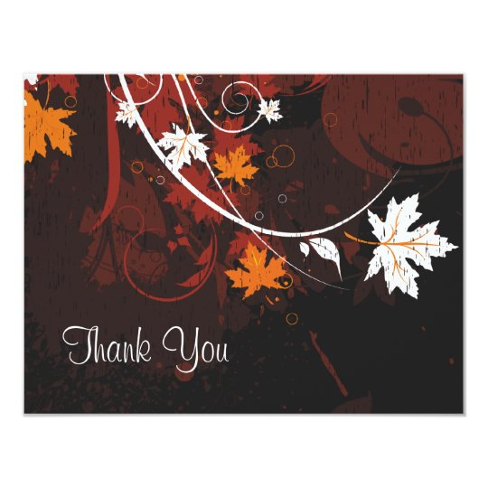 Autumn Leaves Thank You Card