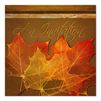 Autumn Leaves Thanksgiving Custom Personalized Invitation