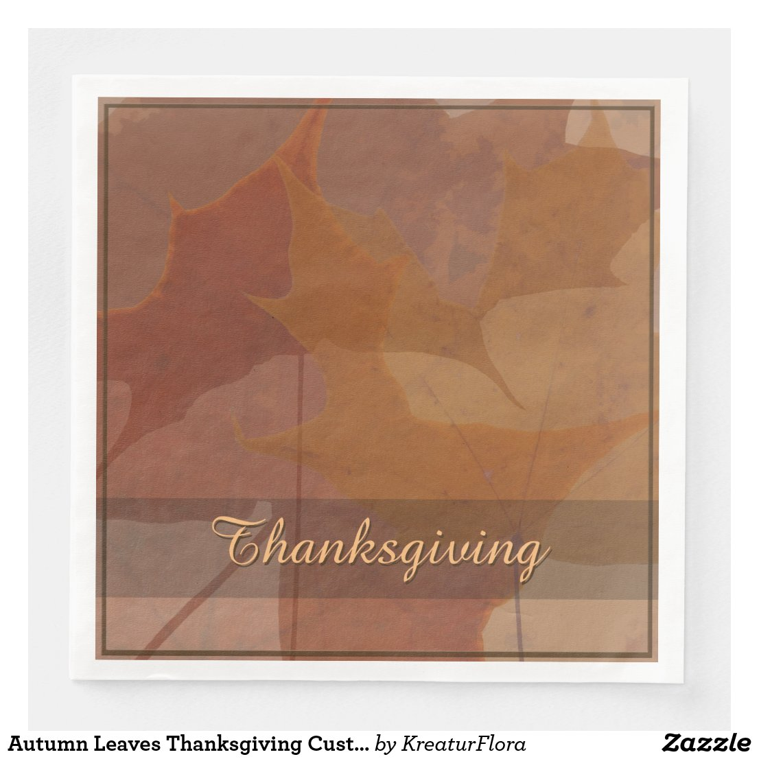 Autumn Leaves Thanksgiving Custom Text Color