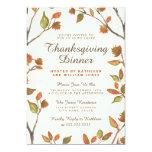 Autumn Leaves Thanksgiving Dinner 5x7 Paper Invitation Card