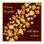 "Autumn Leaves Thanksgiving Dinner Invitation 5.25"" Square Invitation Card"