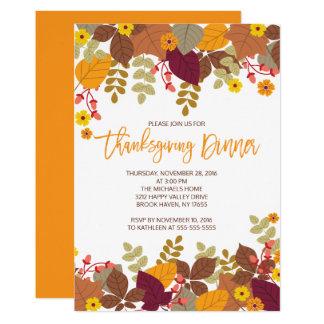 Modern Thanksgiving Dinner Invitations Announcements Zazzle